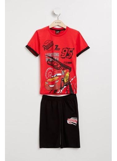 DeFacto Cars 3 Lisanslı Pijama Takımı Kırmızı